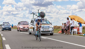 The Cyclist Johnny Hoogerland - Tour de France 2012