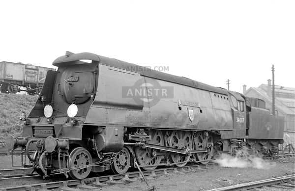 WC steam loco 34007  Bristol