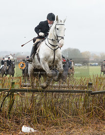 Michael Elson jumping a hedge near Pasture Lane
