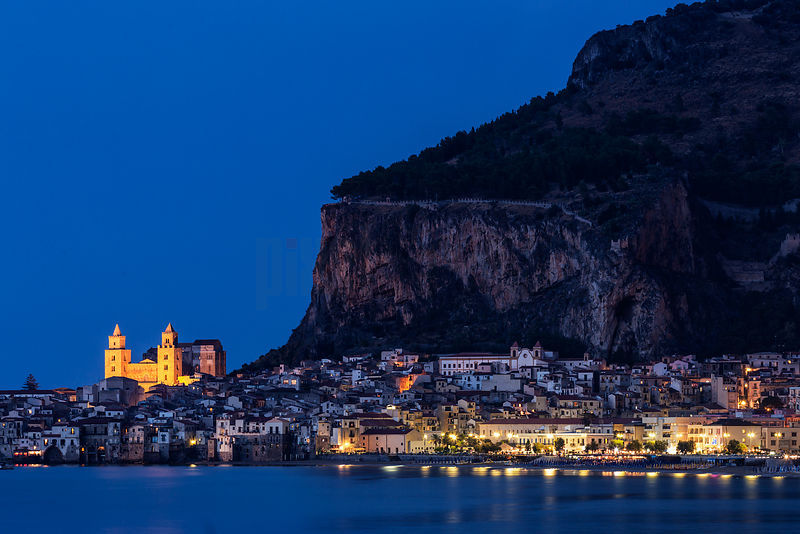 Cefalu Cathedral at Dusk
