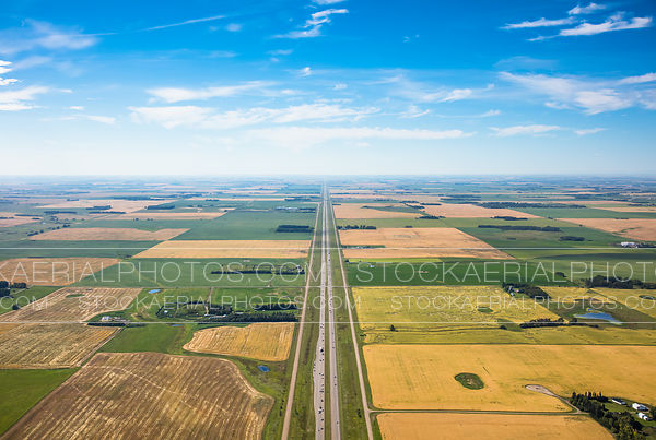 Highway through the prairies