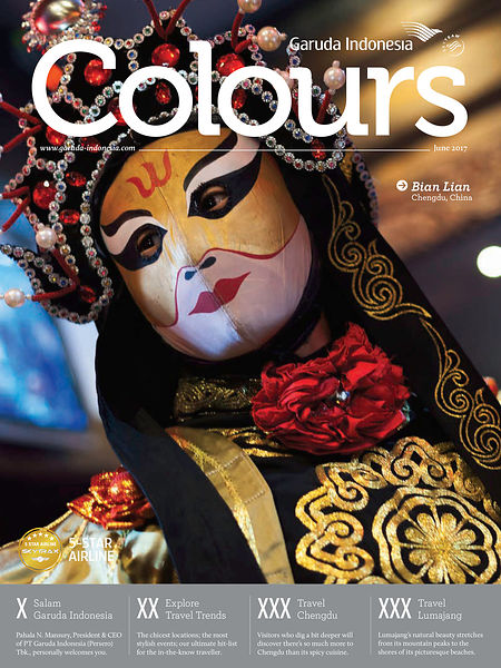 Parution dans Colours, Garuda indonesia