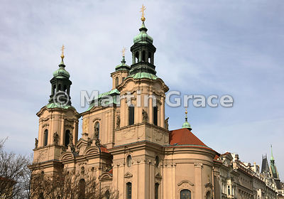 Church of St Nicholas (1732-1737), Old Town Square, Prague, Czech Republic