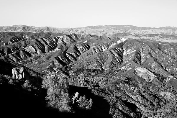 HIGH PEAKS TRAIL PINNACLES NATIONAL PARK CALIFORNIA BLACK AND WHITE