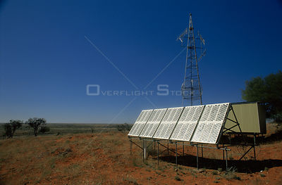Transmitter powered by solar energy panels, New South Wales, Australia