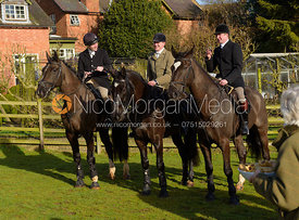 AS, Jeremy Sudlow at The Cottesmore meet at Priory Farm