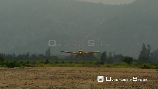 Aircraft Landing on Dirt Runway in Chile. RED ONE Camera