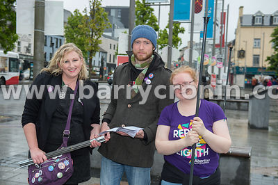 NO REPRO FEES - 15th May, 2018. Pictured at Eyre Square, Galway were volunteers and supporters from left: Susan McGrady, John...