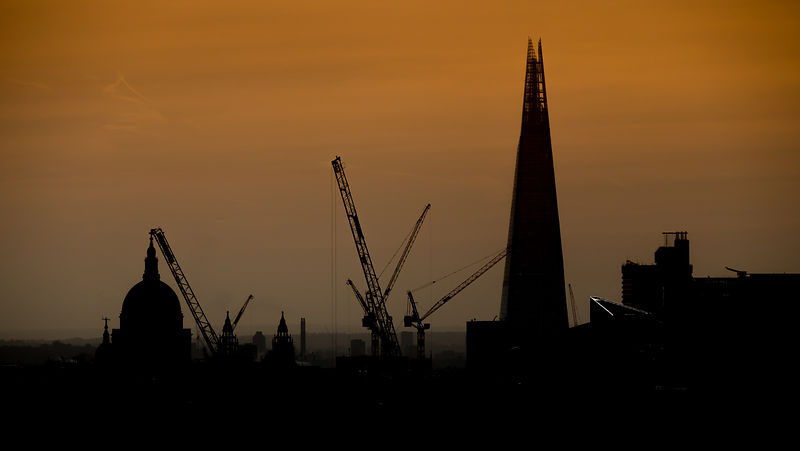 London Shard Skyline at Dusk