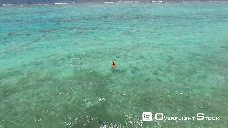 Kayaker off the coast of Grand Cayman Island