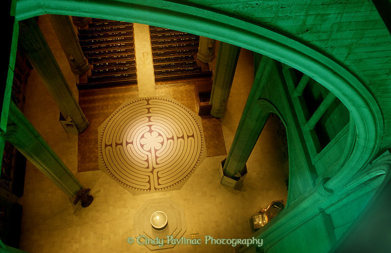 Cindy Pavlinac Photography | Grace Cathedral Labyrinth from