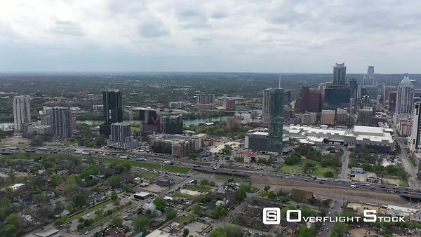 Drone Video Downtown Austin Texas USA