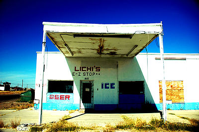 Lichi's was once a convenience store in Pecos, Texas.  Pecos is known for it's cantaloupes which inspired the Cantaloupe Fest...