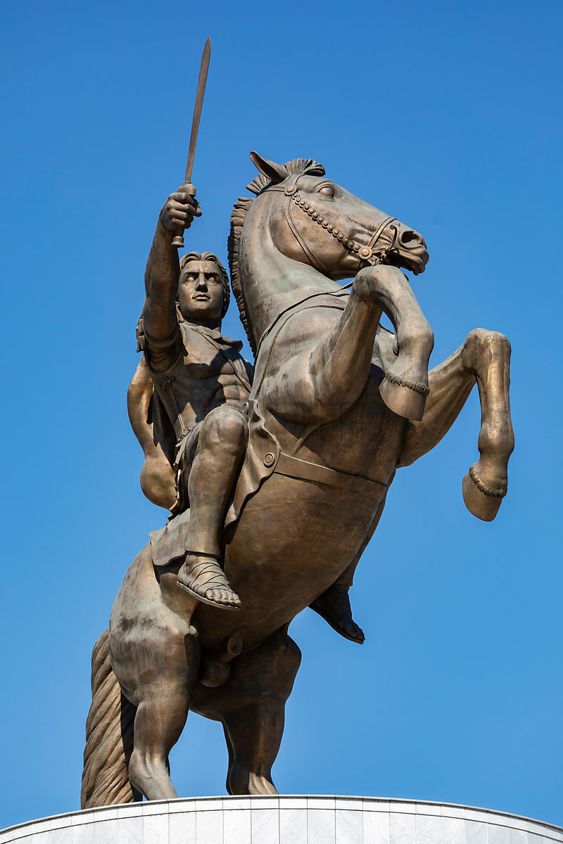Statue of Alexander the Great in the Central Square at Skopje