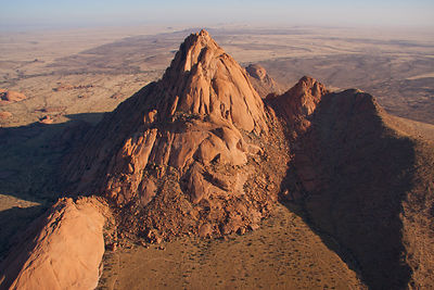 Aerial view of  Spitzkoppe, Namibia, September 2011.