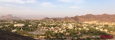 Panoramic of the town of Bahla, Oman
