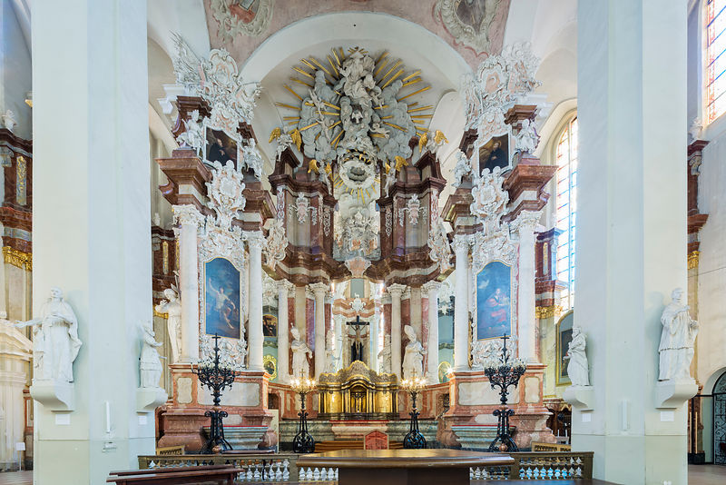 Baroque Interior of the Church of St John