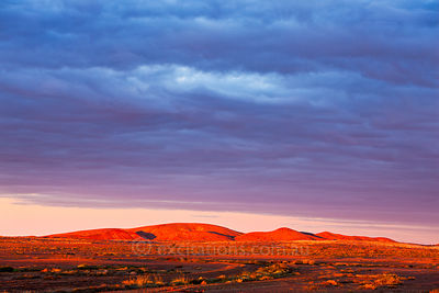 Sunset, outback South Australia.