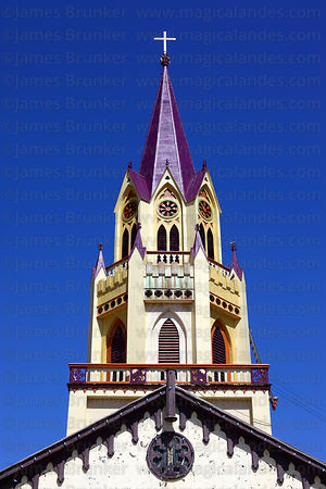 Tower of church of San Vicente de Paul de Caldera , Caldera , Region III , Chile