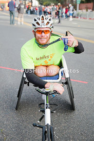 Competition road handcycle racing