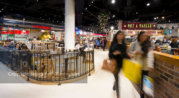 Selfridges in the Bullring Shopping Centre, Birmingham, during the Christmas period.