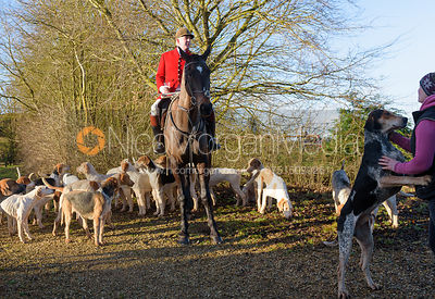 Andrew Osborne at the meet - The Cottesmore at Town Park Farm