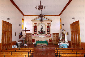 Interior of Virgen del Carmen church in Los Loros, Copiapó valley, Region III, Chile