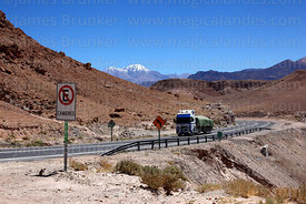 Truck heading to Arica from Bolivia on Highway 11, Region XV , Chile