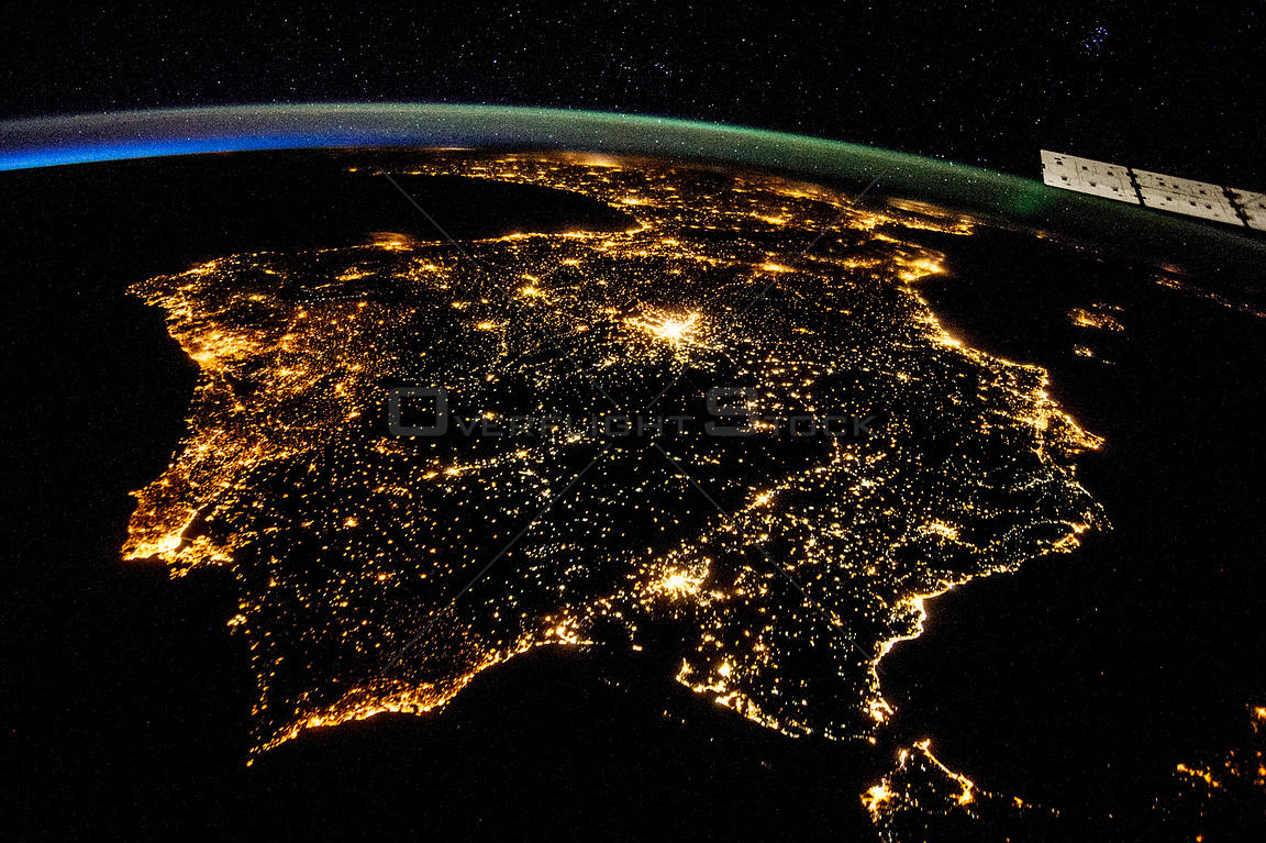 Iberian Peninsula from the ISS