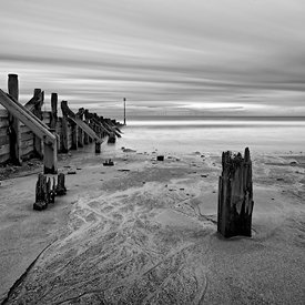 Landscape | Black and white canvas wall art | Posts in the beach