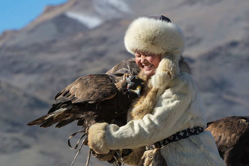 "Portrait of Aishol-Pan the ""Eagle Huntress"""