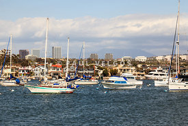Newport Beach Skyline in Orange County California