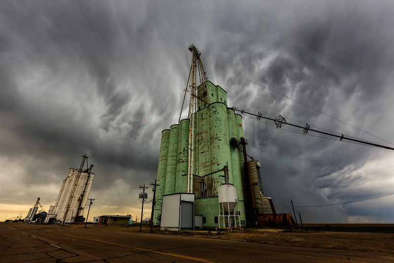 Grain Elevators and Storm Cell