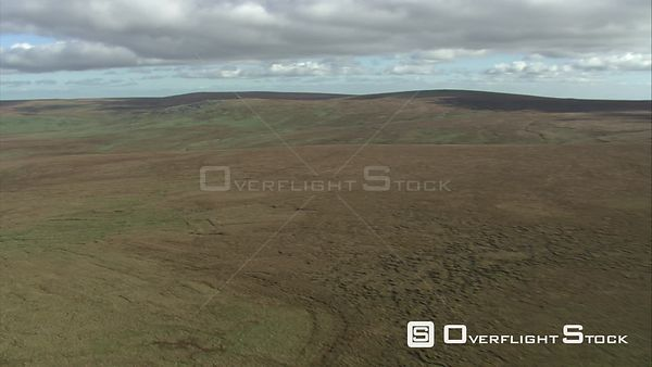 Aerial view of blanket bog on Dartmoor, Dartmoor National Park, Devon, England, UK, October 2015.
