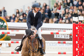 Paris, France, 17.3.2018, Sport, Reitsport, Saut Hermes - PRIX GL Events Bild zeigt Wilm VERMEIR(BEL) riding DM Jacqmotte...17/03/18, Paris, France, Sport, Equestrian sport Saut Hermes - PRIX GL Events. Image shows Wilm VERMEIR(BEL) riding DM Jacqmotte.