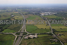 M61 Motorway Junction 6 De Havilland Way looking southwards towards Wingates and Westhoughton Industrial Estate Bolton Greate...