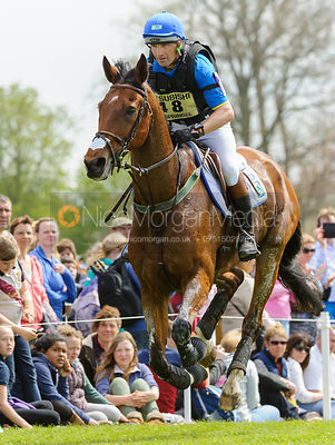 Joris Vanspringel and LULLY DES AULNES - Cross Country - Mitsubishi Motors Badminton Horse Trials 2013.