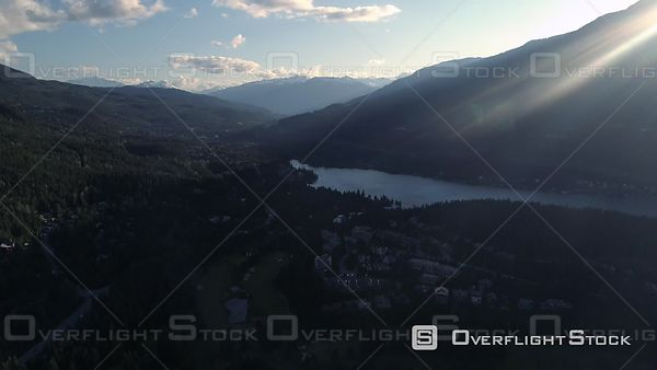 Whitler Mountain Golf Course and Alta Lake in Summer BC Canada