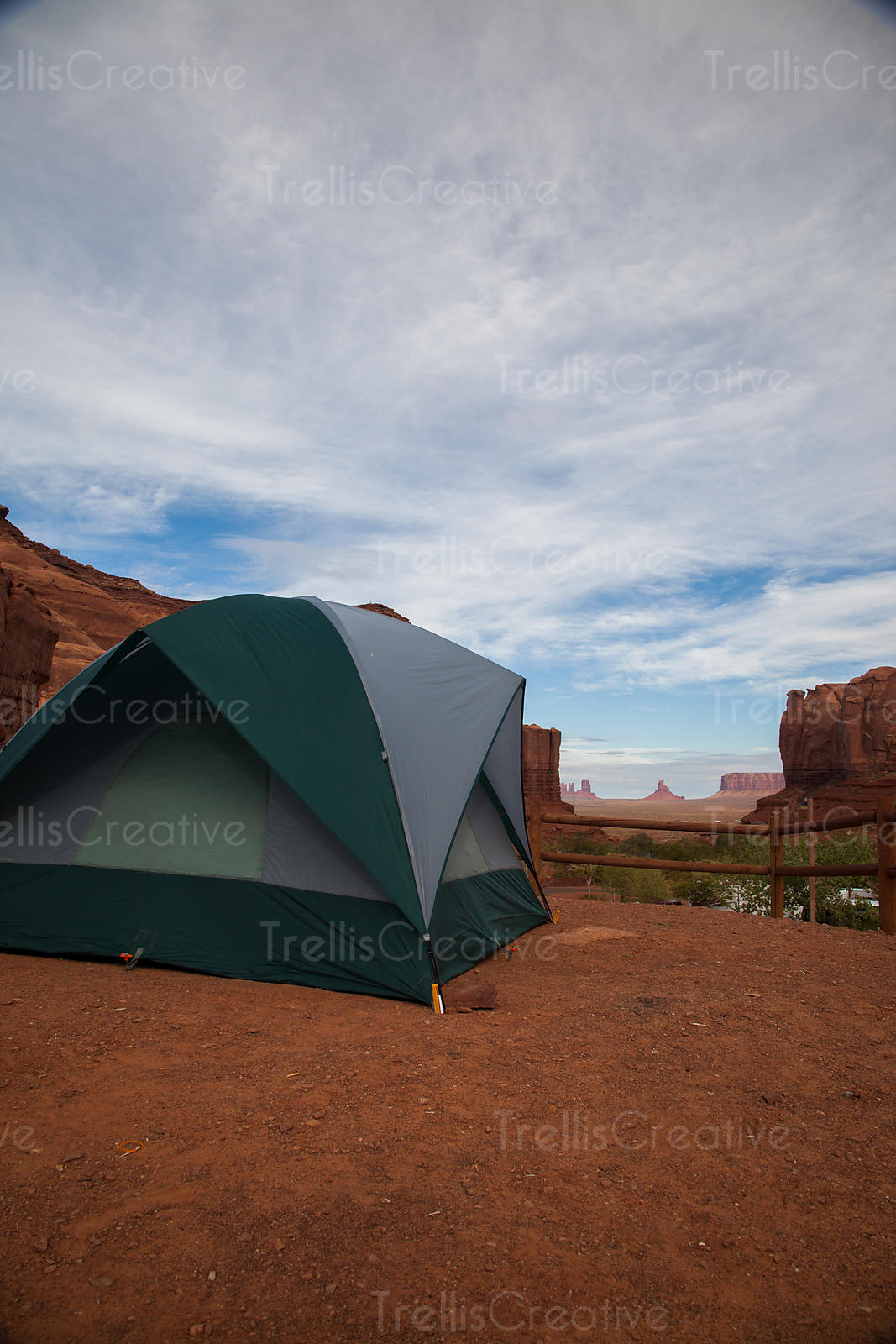 Camping on a bluff in Monument Valley Navajo Tribal Park, Utah