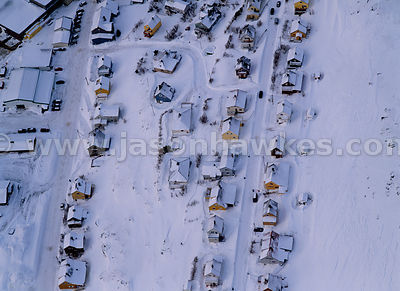 Houses coverd in snow, Norway