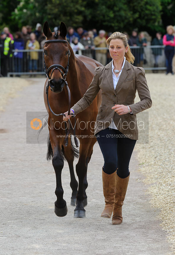 Rebecca Howard and RIDDLE MASTER - First Horse Inspection, Mitsubishi Motors Badminton Horse Trials 2014