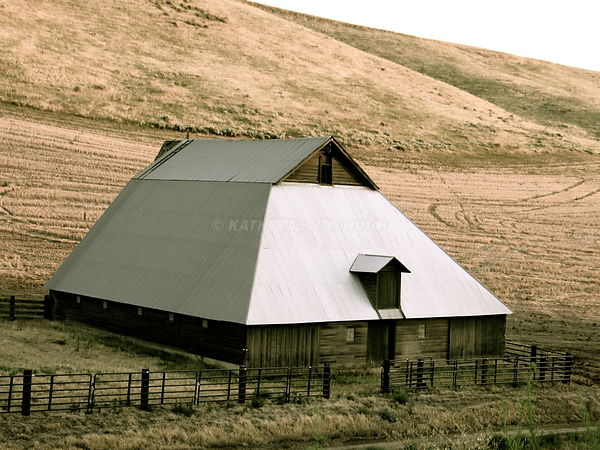 Old funky shaped barn