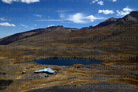 Community owned tourist refuge next to Lake Pampalarama, Cordillera Real, Bolivia