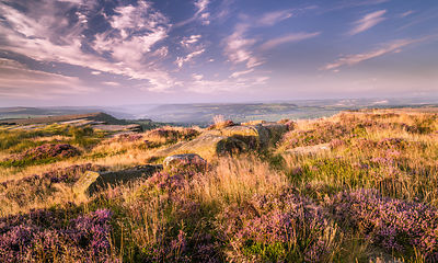 Late August on Curbar Edge