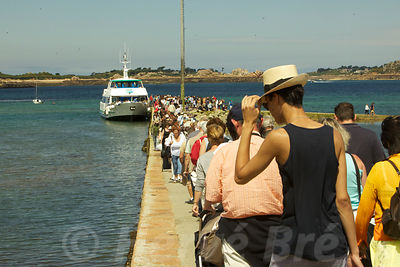 Bréhat island mass tourism on summer time