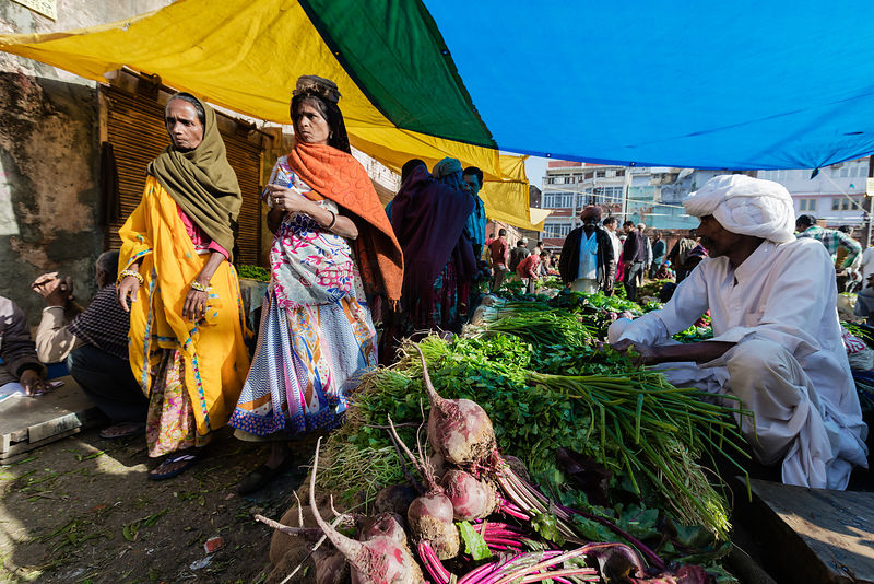 Vegetable Sellers at the Choti Chopad Wholesale Vegetable Market