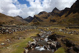 Mountain stream in Canisaya valley, Cordillera Apolobamba , Bolivia