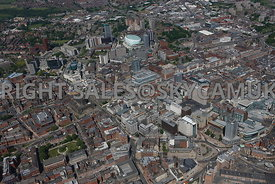 Leeds high level aerial photograph of the City Centre