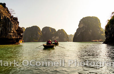 Rowing through Halong Bay Vietnam 6