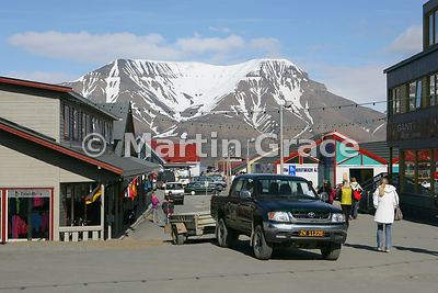 Main shopping street in Longyearbyen, Svalbard